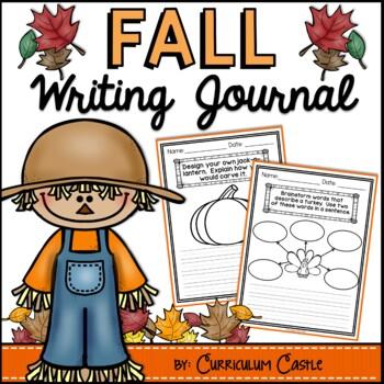 Fall (Autumn) Writing Journal {K-2} NO PREP!