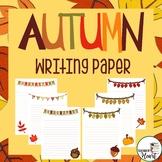 Fall / Autumn Writing Paper