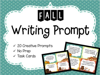 Fall/Autumn Writing Prompt Task Cards