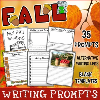 Fall Writing Prompts | Includes Holidays, Poetry, Narratives, Non-Fiction & More