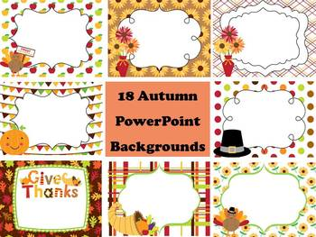Fall, Autumn, and Thanksgiving PowerPoint Backgrounds