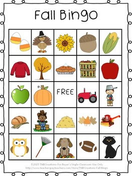 image relating to Fall Bingo Printable identified as Tumble Bingo