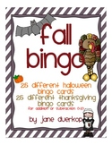 Fall BINGO Cards