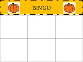 Fall BINGO (#'s 0-5)