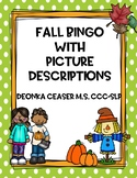 Fall BINGO with Picture Descriptions