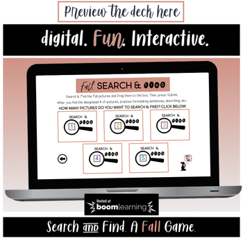 Fall BOOM Cards™ - Search & Find !