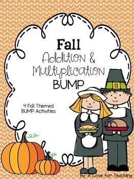 Fall BUMP Addition and Multiplication {Editable}