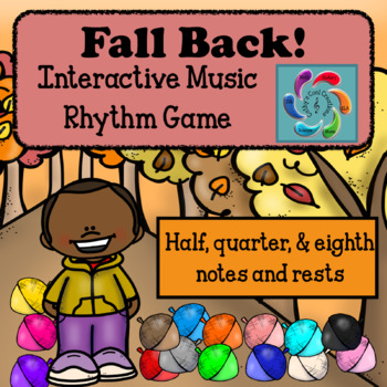 Fall Back! Interactive Music Rhythm Review Game for Google & Adobe-Half Note Ed.