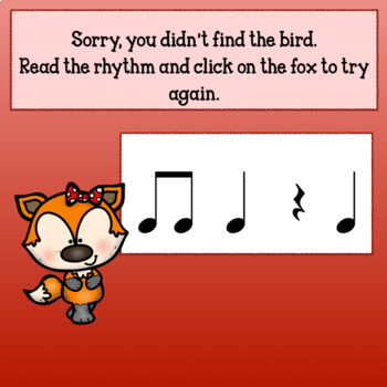 Interactive Music Game (Rhythm) -for Google & PDF -Quarter/Eighth Fall Back