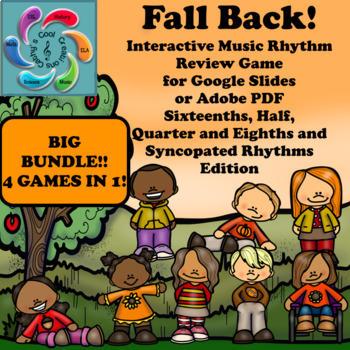 Interactive Music Game (Rhythm) for Google & Adobe- Fall Back! Bundle