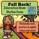 Interactive Music Rhythm Game- Fall Back-Sixteenths version