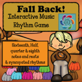 Interactive Music Rhythm Game-Fall Back! Syncopated version