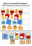 Fall/Back to School Pattern Worksheet