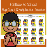 Fall Back to School Skip Count Multiplication Practice