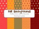 Fall Background - Polka Dot and Chevron