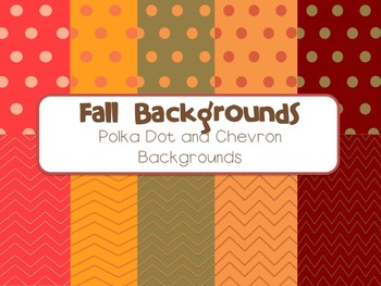 Fall Background - Polka Dot and Chevron