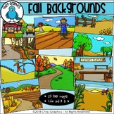 Fall Background Scenes Clip Art - Chirp Graphics