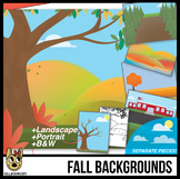 Fall Background Scenes Clip Art/Digital Papers