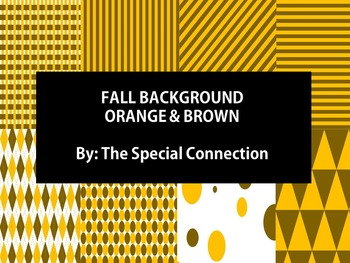 Fall Backgrounds: Orange and Brown
