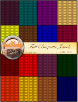 Digital Papers--Fall Baguette Jewel