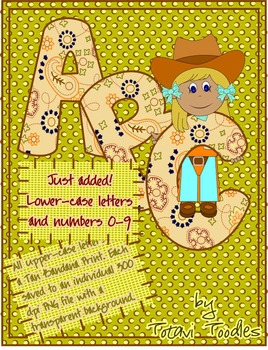 Fall Bandana Print Letters *