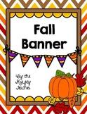 Fall Banner, Decor, September, Fun, Seasonal