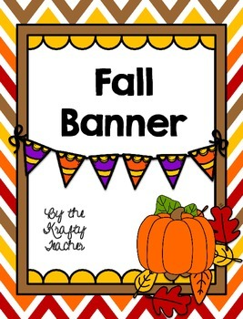 Fall Banner, Decor, September, Fun, Seasonal