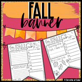 Fall Flag Worksheet - Create a Classroom Banner
