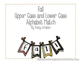 Fall Banner Alphabet Matching Activity