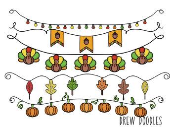 Fall Banners Digital Clip Art Set