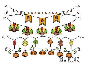 Fall Banners Digital Clip Art Set