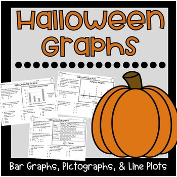 Halloween Graphs {Bar Graphs, Pictographs, Line Plots}