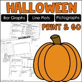 Halloween Graphs {Bar Graphs, Pictographs, Line Plots}