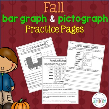 Fall Bar Graphs & Pictographs - 3rd Grade