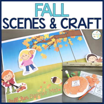 Fall Barrier Activity and Craftivity for Speech and Language Development