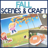 FALL Scenes & Craft | Barrier Games Activities | Speech Therapy