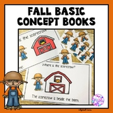 Fall Basic Concept books (Fall, Halloween and Thanksgiving)