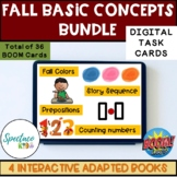 Fall Basic Concepts for Autism Speech Therapy bundle Boom Cards