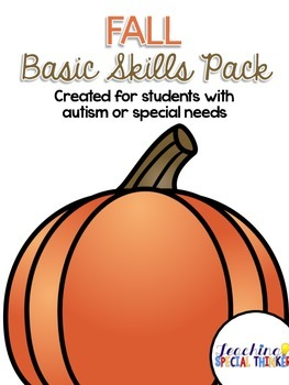 Fall Basic Skills Activity Pack {for students with autism}
