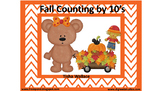 Fall Bears Skip Counting 10's