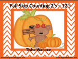 Fall Bears Skip Counting By 2's - 12's