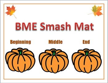 Fall Beginning, Middle, and End Smash Mat