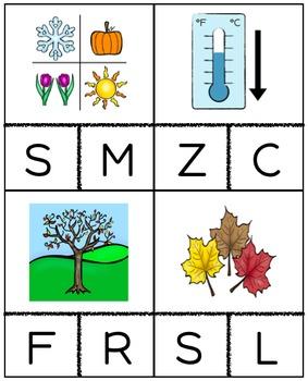 Fall Beginning Sound Cards