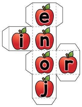 Fall Alphabet Practice - Letter Dice