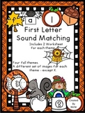 Fall Beginning Sound Letter Matching Activities and Workshets