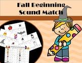 Fall Beginning Sound Match