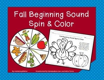 Fall Beginning Sound Spin and Color
