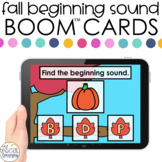 Fall Beginning Sounds Boom™ Cards - Distance Learning for