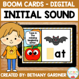 Fall Beginning Sounds CVC Words - Boom Cards - Distance Learning
