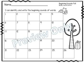 Fall Beginning Sounds Center ~ Task Cards ~ SCOOT